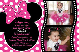 minnie mouse 1st birthday invitations templates 100 images