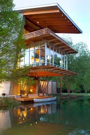 Energy Efficient House The Pond House At Ten Oaks Farm Angled Sustainable And Energy