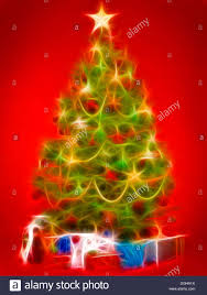 beautiful decorated christmas tree with colorful gifts under it