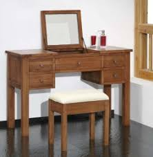 Folding Vanity Table Havana Oak Dressing Table With Lift Up Mirror Vanity