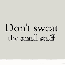 don t sweat the small stuff quote wall decal inspirational saying