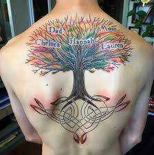 Tattoos For Middle Of Back Family Tree Tattoos For Ideas And Inspiration For Guys