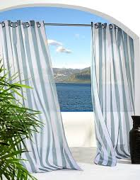 Cabana Curtains Create A Beach Vacation Feeling In Your Home With Blue Cabana