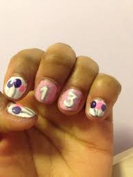 nail art design idea for the big 13 year old birthday done