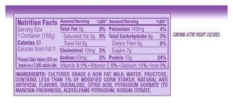 dannon light and fit nutrition dannon light yogurt nutrition facts www lightneasy net