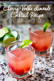 summer cocktail recipes cherry limeade vodka cocktail recipe