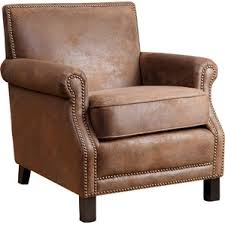 Rustic Leather Armchair Rustic Accent Chairs You U0027ll Love Wayfair