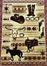 Cowboy Area Rugs Country Pictorial Area Rugs Ebay
