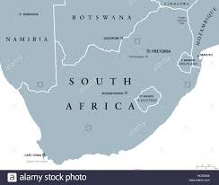Africa Map Countries And Capitals by South Africa Political Map With The Capitals Pretoria