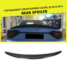 maserati coupe 2012 car style carbon fiber racing rear trunk spoiler wing fit for