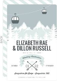mountain wedding invitations winter wedding invitations winter wedding invites