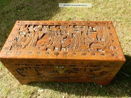 african carved tables large antique hand carved camphor chest