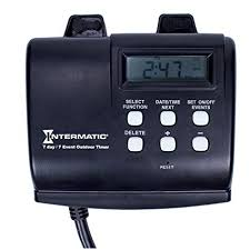 how to set light timer intermatic intermatic hb880r 15 amp outdoor digital timer for control of lights