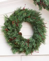 Outdoor Christmas Wreaths by Beacon Hill Outdoor Cypress Wreath And Garland Balsam Hill