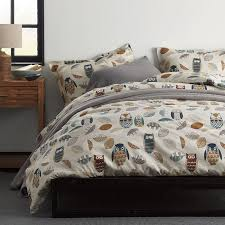 whoo s there 5 oz flannel sheets bedding set the company store
