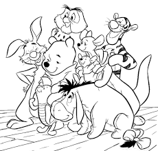 friends winnie pooh coloring pages cartoon coloring