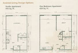 assisted living floor plans the brook retirement communities