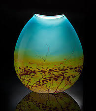 Glass Vase Art Vases U0026 Vessels Glass Ceramic Vases U0026 Wood Vessels Artful Home
