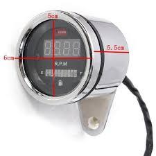 2 in 1 motorcycle led digital speedometer tachometer oil fuel