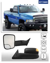 dodge ram 2500 tow mirrors tyger upgrade performance style play towing mirrors 2pcs pair
