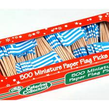 Greece Flag Emoji Flag Toothpicks Greek 500 Pk Catering Supplies Party