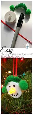 easy snowman tea light ornament craft stress free snowman and