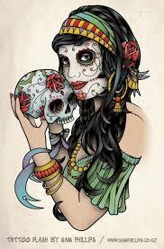 sugar skull pin up skull pin up