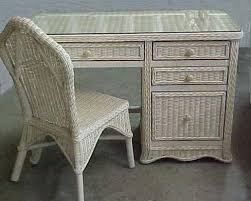 Rattan Desk Chair Florentine Wicker Desk And Chair Set All About Wicker