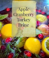 simple cranberry apple turkey brine recipe