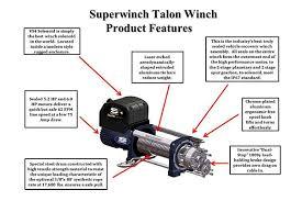superwinch talon 14k sr winches superwinch talon 14000 lb winch