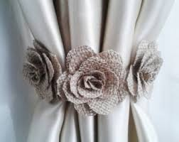 Curtains With Ribbon Ties Curtain Tie Back2pcsflower Curtain Tie Backsshabby Chic