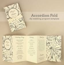 folded wedding program template diy tutorial free printable folded wedding program wedding