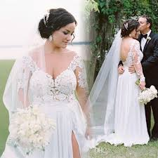 boho wedding dress plus size discount modest plus size bohemian wedding dresses 2017