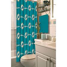 Nfl Shower Curtains Nfl Miami Dolphins Shower Curtain Bed Bath Beyond