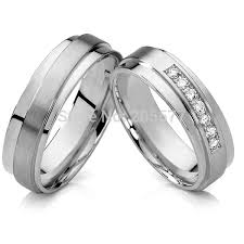his and hers white gold wedding rings anel ouro vintage 18k gold plating cz diamonds engagement wedding