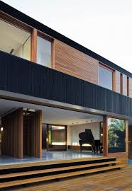Home Design And Drafting Flat Roof Parapet In Timber Cladding Painted Black Http