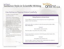 Change Active Voice To Passive Voice Worksheets Write Online Lab Report Writing Guide Resources