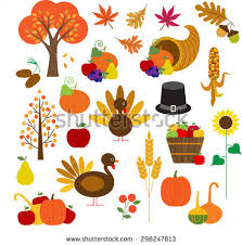 set abstract thanksgiving day icon stock vector 483464569