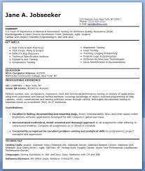 resume format sles for freshers download itunes career objective for software test engineer zoro blaszczak co