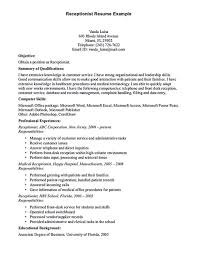 homey idea resume for medical receptionist sample templates and