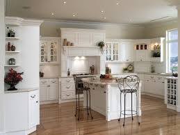 country french kitchen design with laminate wood flooring and