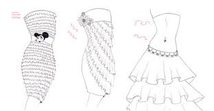 how to draw a ruffle skirt i draw fashion