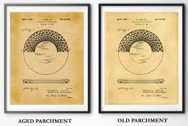 patent 1944 poker chip art print wall art game room art