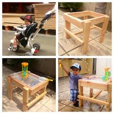 Diy Toddler Desk by Diy Water Table Under 20 Using Wood And A Rubbermaid Tub Roman