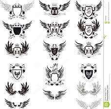 collection of vintage vector coat of arms stock vector