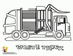 trash truck coloring pages