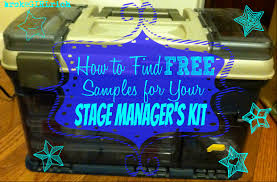 how to find free samples for your stage manager u0027s kit brokegirlrich