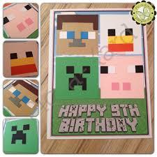Minecraft Invitation Cards Minecraft Birthday Card The Supermums Craft Fair Crafts