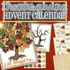 thanksgiving advent calendar with thankful prompt cards
