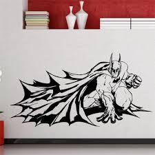 online get cheap removable wall sticker aliexpress com alibaba diy wallpaper batman superhero dark knight comics cartoons home decoration waterproof removable wall stickers china
